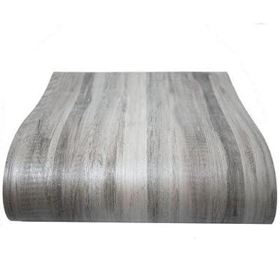 Gray Wood Vinyl Floor Film Self Adhesive Flooring Tiles Sticker 12 PCS