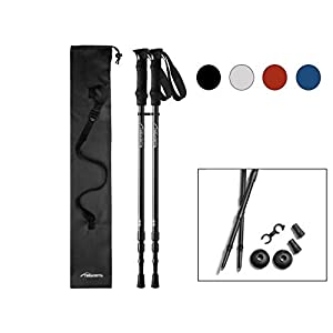 Pair of Trekrite 3 Section Telescopic Antishock Trekking/Hiking/Walking Poles - UK Brand - Choose Colour 30