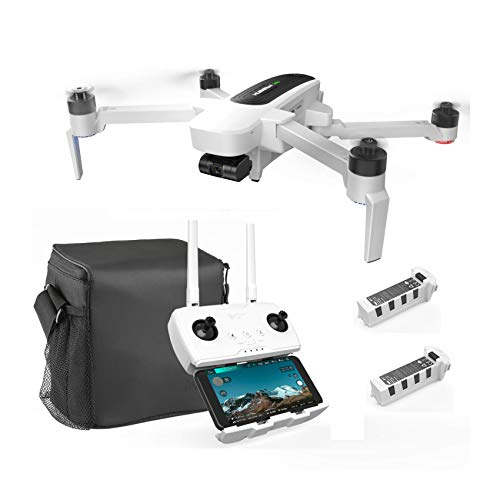 HUBSAN Zino GPS 5.8G 1KM Foldable Arm WiFi FPV with 4K UHD Camera 3-Axis Gimbal RC Brushless Drone Quadcopter RTF with Extra Battery Storage Carrying Bag