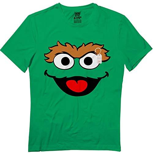 Springtee Green Puppet Oscar Halloween Grouch Monster Costume Kids Adult Tshirt]()