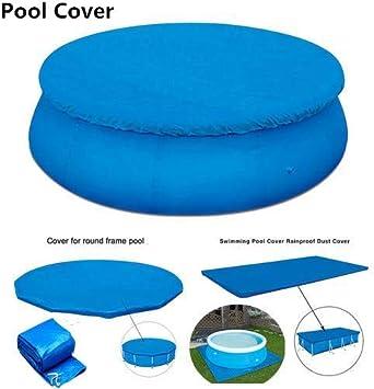 5 piezas Cubierta de piscina Piscina redonda Tela de tierra Cubierta a prueba de lluvia a prueba de polvo - Cubierta de Invierno para Piscina Redonda Lona Protectora (6 pies, 8 pies, 10 pies, 13 pies)