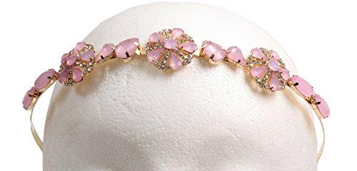 Caravan Pink Rose Design on Gold Color Metal