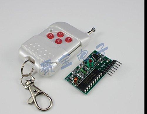 2pcs 2272-m4 non-lock 4つキーワイヤレスリモートコントロールキット固定コードはんだコードリモートコントロールレシーバーボード B072BQGMWN