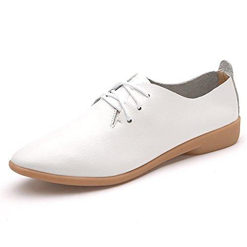 [Claytonick Casual Cow Muscle Shoes Women Flat Flexible Nurse Peas Loafer Flats] (Jackie Nurse Shoes)