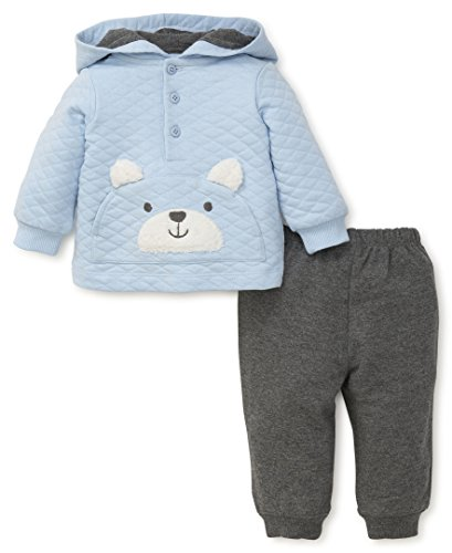 Little Me Baby Boys' 2 Piece Sweatshirt Set,  TEDDY