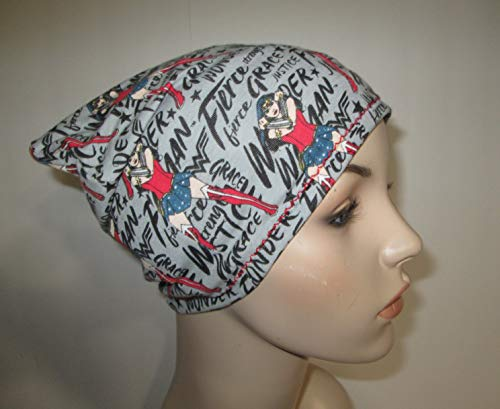 Womens Chemo New Wonder Woman Slouch Hat Alopecia Cancer Hat