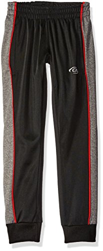 CB Sports Little Boys' Tricot Pull on Pant, TC87-Black/Red, 4