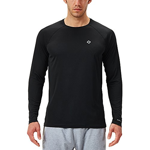 Naviskin Men's Sun Protection UPF 50+ UV Outdoor Long Sleeve T-Shirt Black Size XL ()