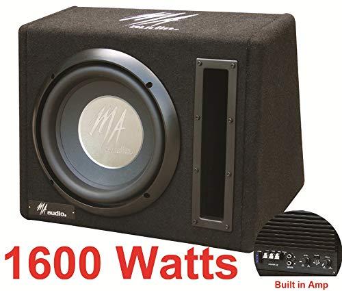 2100W LED auna Basswaver X 10L Active Car Subwoofer 2 x 25cm 10