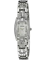 Armitron Womens 75/5293MPSV Swarovski Crystal Accented Silver-Tone Bracelet Watch