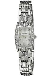 Armitron Women's 75/5293MPSV Swarovski Crystal Accented Silver-Tone Bracelet Watch