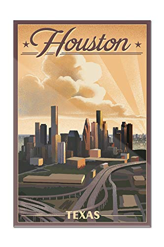 Houston, Texas - Lithograph (24x36 Acrylic Wall Art Gallery Quality)
