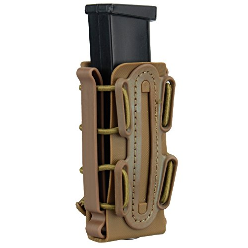 IDOGEAR 9mm Pistol Magazine Pouch Tactical Fastmag Soft Shell Mag Carrier Hunting Airsoft Gear (Coyote Brown)