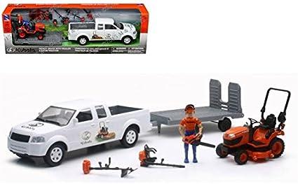 Amazon.com: NewRay 1: 20 – Kubota Pickup Truck con remolque ...
