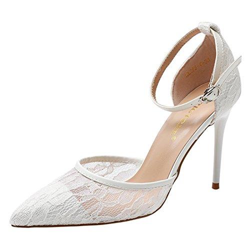 AGECC Heels Sandals white Version Thin Baotou Shoes New Women's and Fashionable Korean Women's BqSxBrA