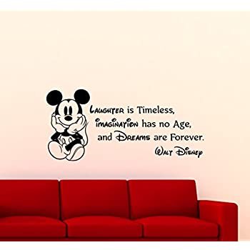 Mickey Mouse Wall Decal Walt Disney Quote Nursery Custom Cartoon Disney  Vinyl Sticker Home Nursery Room Part 56