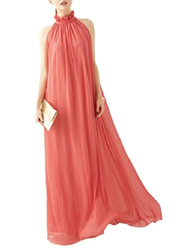 Halter Long Dresses Party Evening Gown Formal 3 Chiffon Women Maxi QianQian AU Prom 1HxYtXY