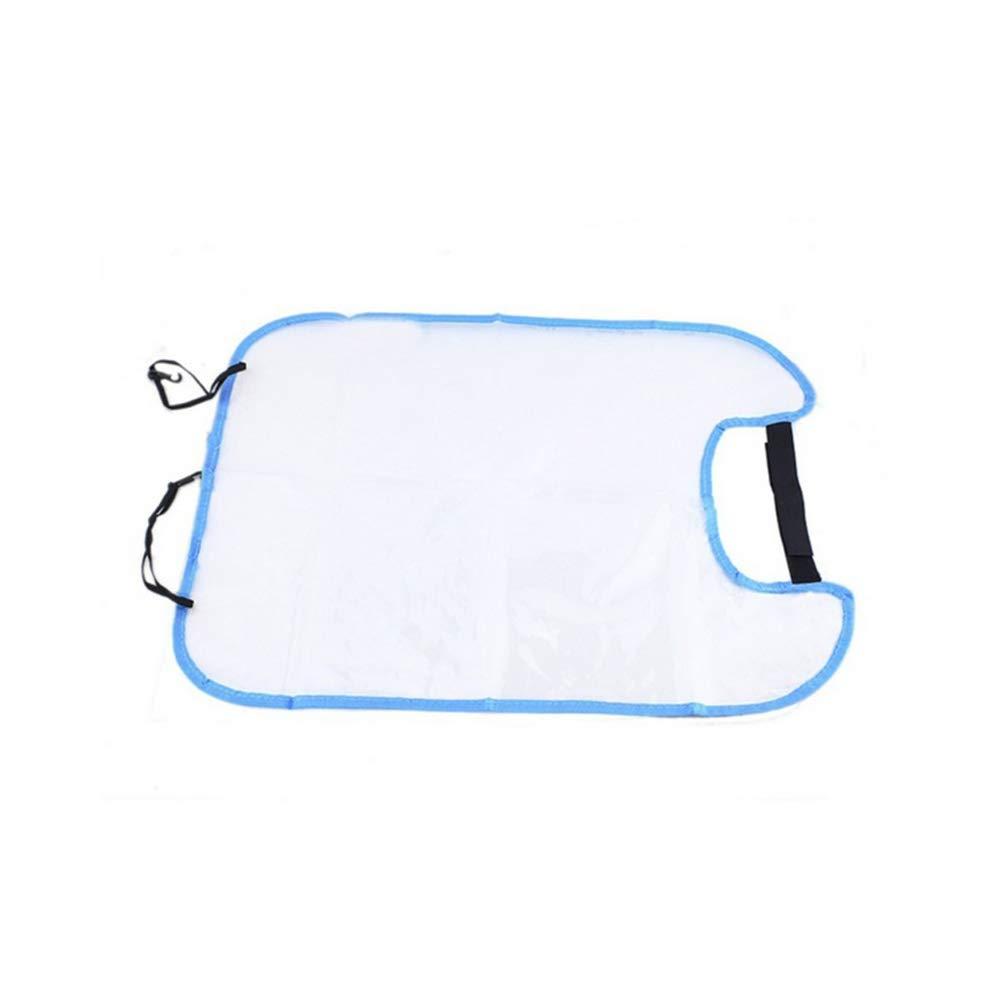 Asiento trasero del coche del protector de rat/ón azul transparente impermeable anti tiro Anti-sucio del asiento de coche Volver malla para cubrir Protetctive para ni/ños Kids
