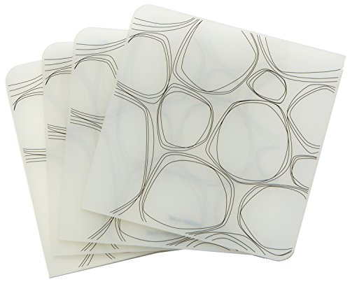 modern-twist Pebbles Pattern, Black, Silicone Coasters Drink & Wine Coaster, Non Porus Modern Design, Set of 4 - Set of four coasters made from FDA-approved, food-grade silicone that you can write on Remove spills and ink on the coasters from pen or dry-erase markers with a quick wipe down or rinse; they're also dishwasher safe and won't crease or rip Safe for people and the planet: free of BPA, PVC, lead, latex, and phthalates - placemats, kitchen-dining-room-table-linens, kitchen-dining-room - 41cjmjXncgL -