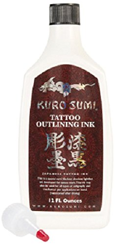 Kuro Sumi Tattoo Ink, Outlining, 12 Ounce