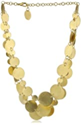 """Zariin """"The Bright Circles"""" Layered Gold Coins Necklace"""