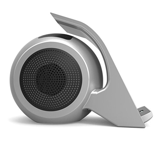 Ikevan Qi Wireless Fast Bass Stereo SpeakerCharger Charging Pad Dock Stand Holder (Silver) by Ikevan (Image #1)