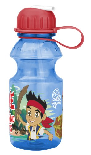 Zak! Designs Tritan Water Bottle with Flip-up Spout with Jake and The Neverland Pirates Graphics, Break-resistant and BPA-free plastic, 14 oz. ()