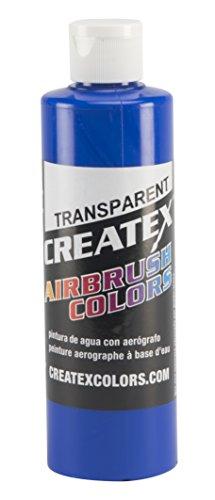 Blue Transparent Paint - Createx Colors Paint for Airbrush, 8 oz, Transparent Ultramarine Blue