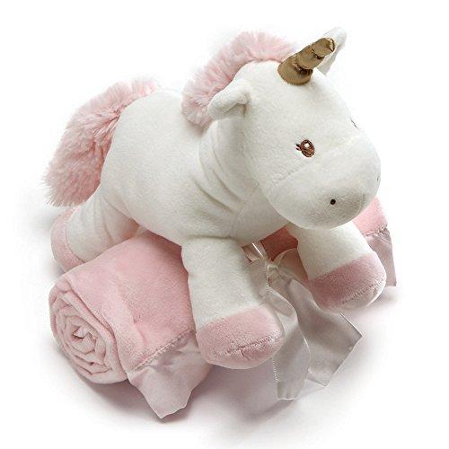 Baby Gund Luna Unicornio con manta rosa peluche de animal, juego de 2, 7'
