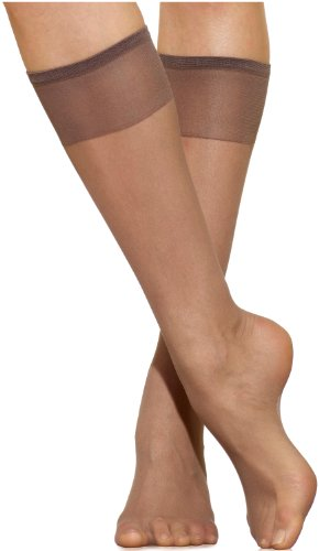 Hosiery Sheer Taupe - Silkies Women's Ultra Knee Highs with Energizing Support 3 Pair Pack -Regular Taupe