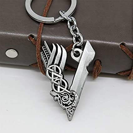 Amazon.com : Occus L1746 Vikings Keychain Silver Color ...