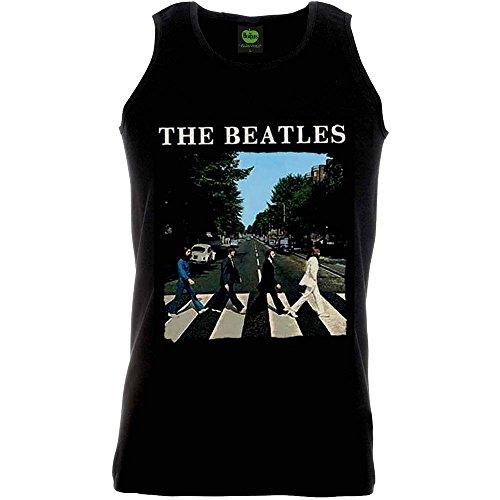 - The Beatles Men's Abbey Road Cotton Sleeveless Vest Tee Black (Medium)