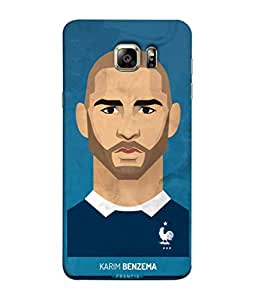 ColorKing Football Benzema France 01 Blue shell case cover for Samsung S6