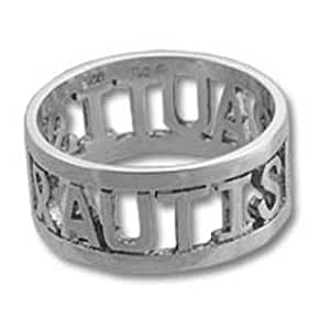 Autism Awareness Ribbon Sterling Silver Ring Size 9