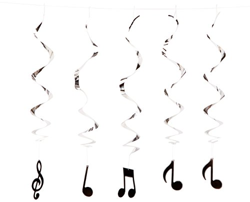 Musical Note Whirls (5/Pkg) (Musical Birthday Party)