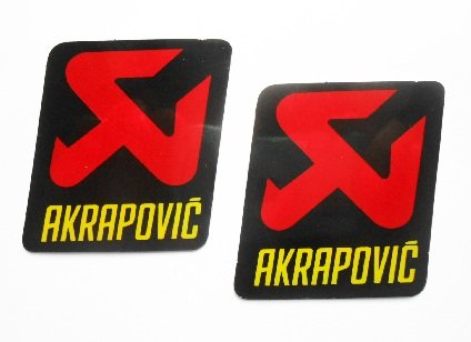 AKRAPOVIC logo stickers decals autocollant - rouge or - small - echappement - exhaust - Motorbike - Motorsport - Motorcycles - Biker - set of 2 pieces other