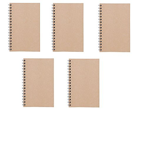 MUJI Double-ring Notebook A6 6㎜ 48sheets - Pack of 5books Beige