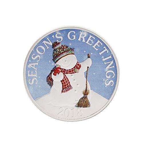 (angel3292 Christmas Commemorative Coin Snowman Holiday Season Souvenir Collection Gift Snowman)