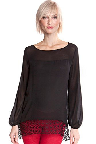 Olian Eliana Chiffon Maternity Top - Black - ()