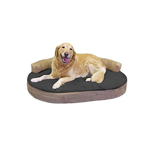 Integrity Bedding Orthopedic Memory Foam Joint Relief Bolster Large Pet Dog Bed - Licorice