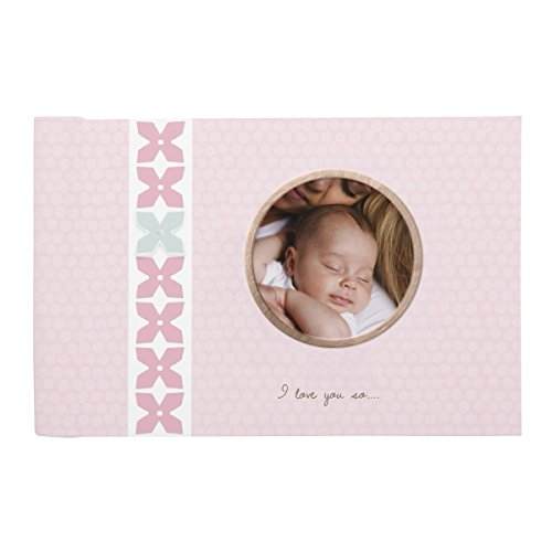 C.R. Gibson Sweet Pink Floral Baby Girl Brag Book, 20 Pages, 7.25