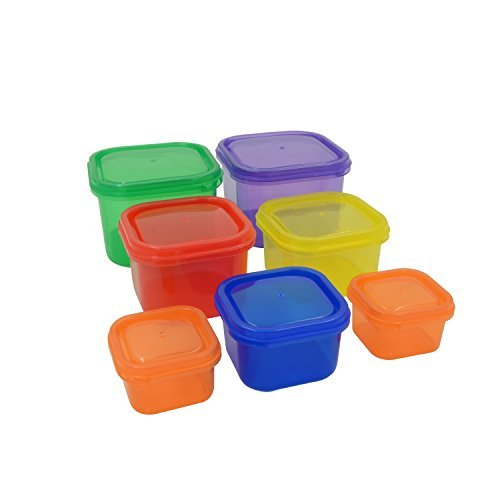 Prefer Green 7 Piece Portion Control Containers with Guide Instruction,Food and Meal Storage,100% Leak Proof,Comparable to 21 Day Fix