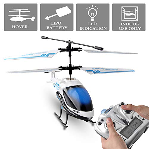 RC Helicopter, Gimilife Remote Control Airplane with Gyro and LED Light 3.5HZ Channel, Alloy Mini Helicopter Remote Control for Kids & Adult