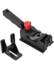 Drill Guide, Wood Dowel Straight Hole Drilling Guide Woodworking Carpentry Positioner Locator Jig Hole System Kit Tool with Holder Accessories