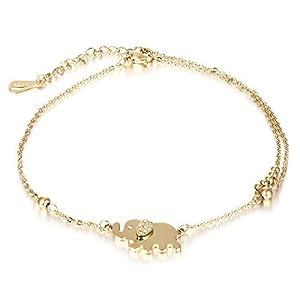 427672313ad0 Moda Mujer encanto rhinestone oro elefante Cadena pulsera Joyería Regalo  Nuevo