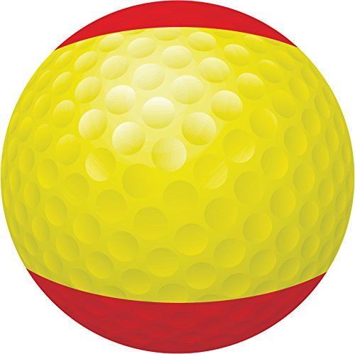 Spain Flag Golf Ball Home Decal Vinyl Sticker 12'' X 12'' by innagrom