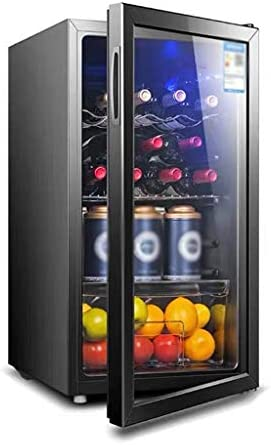 WANGLX ワイン冷蔵庫、ガラスドア、ボリュームと飲料冷蔵庫:88L、37デシベル、冷光照明、オフィスやルームのための飲料冷蔵庫やクーラー