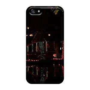 XGb4584-yFx CenterH Christmas On The Bayou Durable Iphone 5/5s Tpu Flexible Soft Case