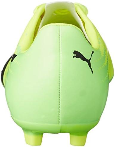 Homme Chaussures de football | Puma evoSPEED 17.4 AG Safety Yellow Puma Black Green Gecko