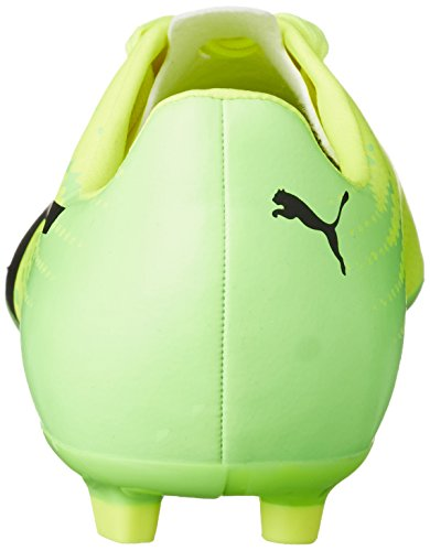 Puma Unisex-Kinder evoSPEED 17.4 AG Jr Fußballschuhe Gelb (safety yellow-puma black-green gecko 01)